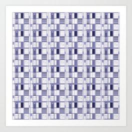 Purple- Lavender -cuadricula Art Print