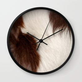 Animal Fur Brown And White Wall Clock