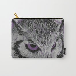 Violet Owl Carry-All Pouch
