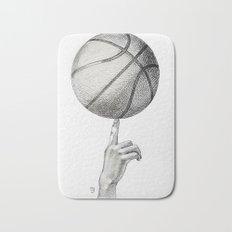 Basketball spin Bath Mat