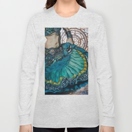 Turquoise Twirling Long Sleeve T-shirt