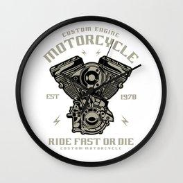 Custom Engine Motorcycle Wall Clock