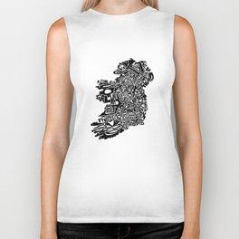Typographic Ireland Biker Tank