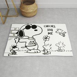 """Snoopy """"Chicks Dig Me"""" Rug"""