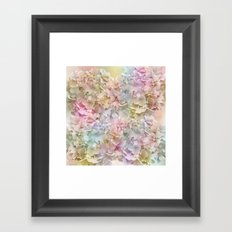 Pastel Hydrangeas Framed Art Print