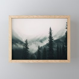 Over the Mountains and trough the Woods -  Forest Nature Photography Framed Mini Art Print