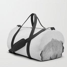 Elephant Tail - Black & White Duffle Bag