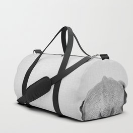 Elephant Tail - Black & White Duffle Bag
