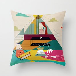 Static Room Throw Pillow