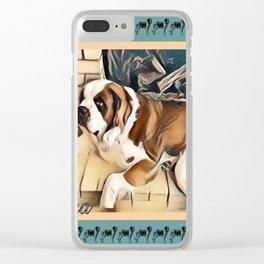 """St. Bernard"" Clear iPhone Case"