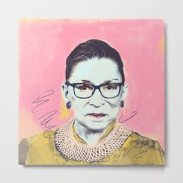 What Would RBG Do (4/6) Metal Print