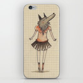 Woman Wolf at school iPhone Skin