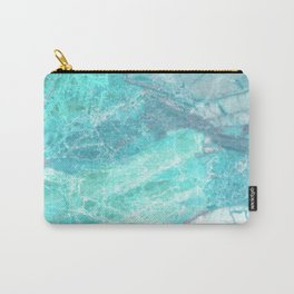 Marble Turquoise Blue Agate Carry-All Pouch