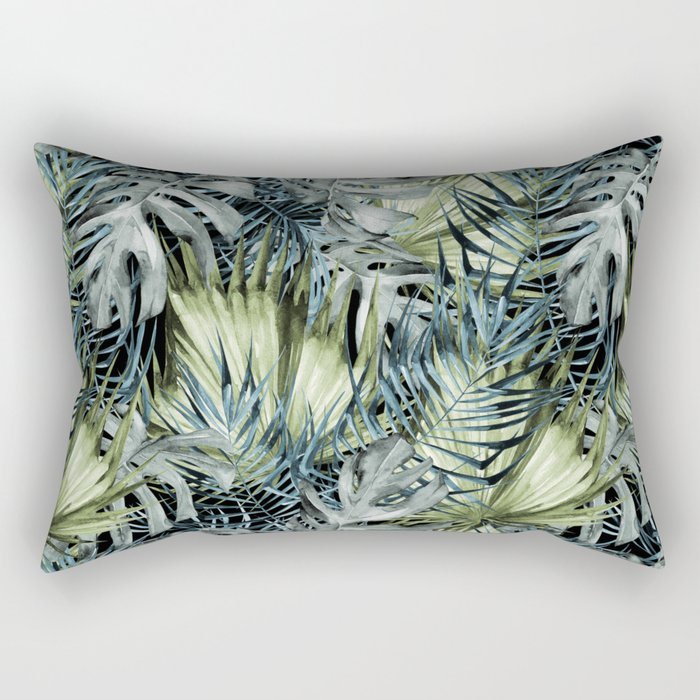 Tropical Leaves I Rectangular Pillow