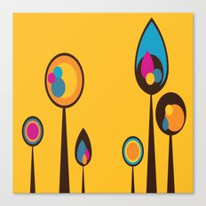 Yellow with Multi-Colored Trees (or Flowers?) Canvas Print