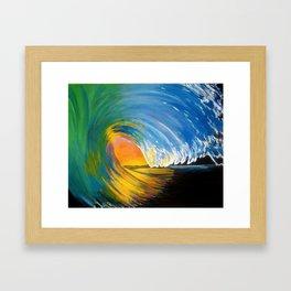 Orange Crush, Wave Painting Framed Art Print
