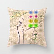 Flower Maker Throw Pillow