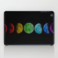 moon phases iPad Cases featuring phases by Stella Joy