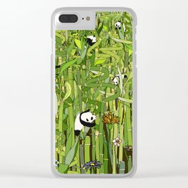 Traveling Pandas in Bamboo Forest Clear iPhone Case