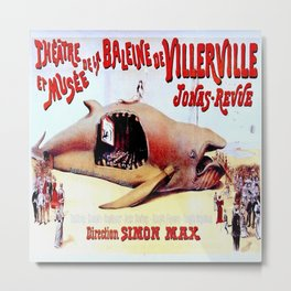 Vintage poster - Theatre de la Baleine de Villerville Metal Print