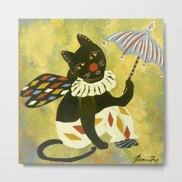 Circus Kitty Clowning Around  Metal Print