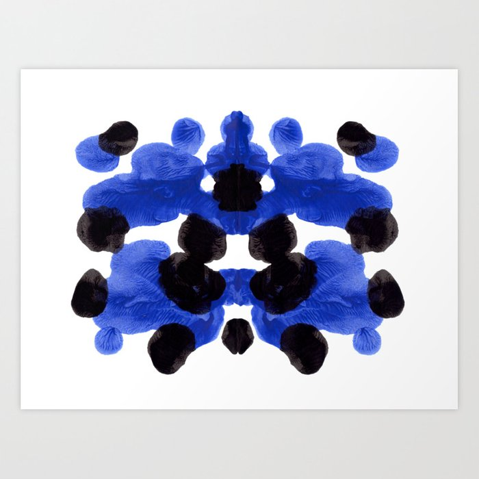 Periwinkle Purple Blue And Black Ink Blot Diagram Kunstdrucke