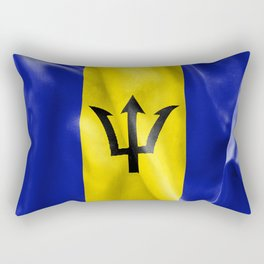 Barbados Flag Rectangular Pillow