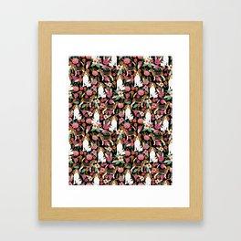 Beagle Floral design beagle florals dog design cute dogs Framed Art Print
