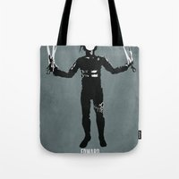 edward scissorhands Tote Bags featuring Edward Scissorhands by Steal This Art