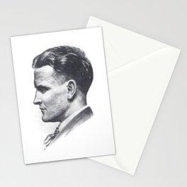 A portrait of F Scott Fitzgerald Stationery Cards