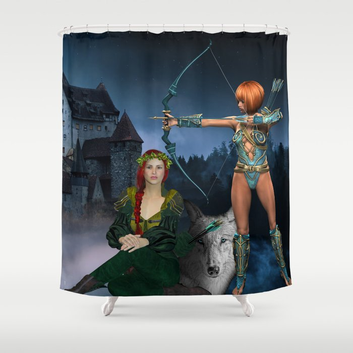 Castle Guardians Shower Curtain