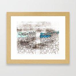 ...on the seashore Framed Art Print