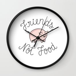 Friends, Not Food Wall Clock