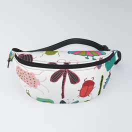 Insect watercolor white Fanny Pack