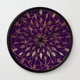 Gold Boho Flower Wall Clock
