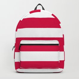 Rich carmine - solid color - white stripes pattern Backpack