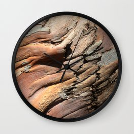 Eucalyptus tree bark texture Wall Clock