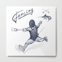 Fencing Metal Print