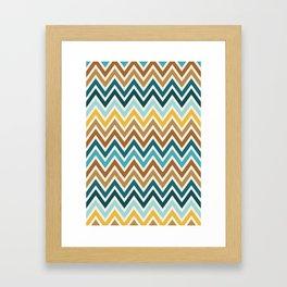 Indie Spice: Cumin Chevron Framed Art Print