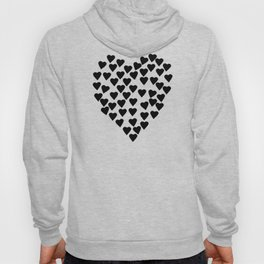 Hearts Heart Black and White Hoody