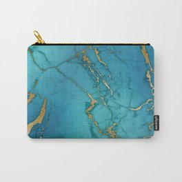 Electric Blue Marble Carry-All Pouch