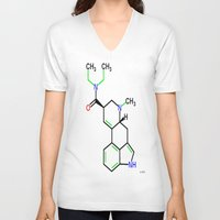 lsd V-neck T-shirts featuring LSD by TLineInc