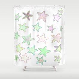 Fun Pastel Stars! Shower Curtain
