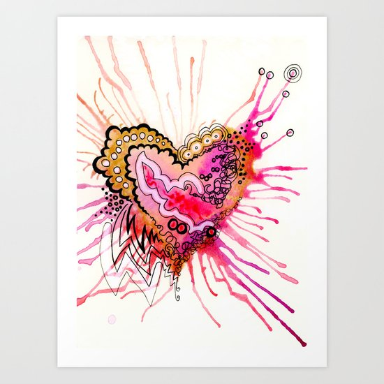 Golden Love Art Print