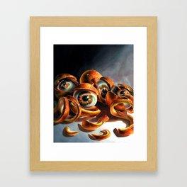 Keep Your Eyes Peeled  Framed Art Print