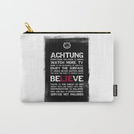 Black Brush - Achtung message Carry-All Pouch