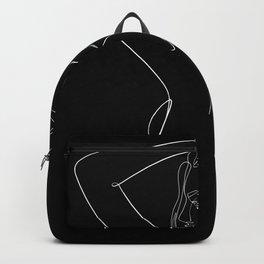 minimal line art - looking back Backpack