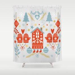 Laplander Winter Holiday Shower Curtain