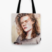 coconutwishes Tote Bags featuring Harry watercolors III by Coconut Wishes