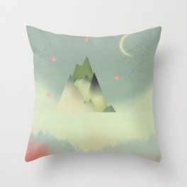 Abstract Cloudscape Throw Pillow